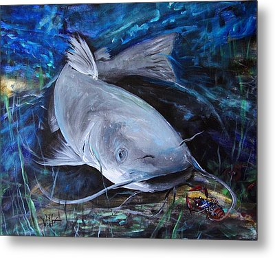 The Catfish And The Crawdad Metal Print by J Vincent Scarpace