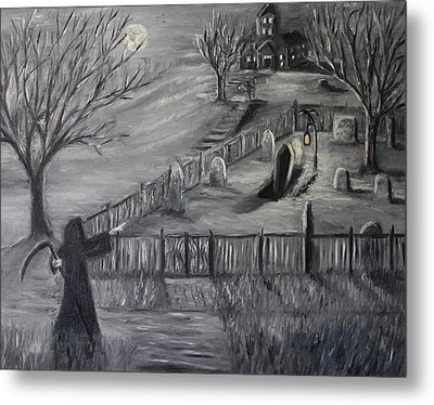 The Cemetary Metal Print by Daniel W Green