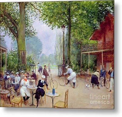 The Chalet Du Cycle In The Bois De Boulogne Metal Print
