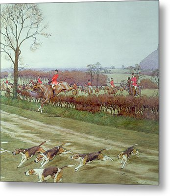 The Cheshire Away From Tattenhall Metal Print by Cecil Charles Windsor Aldin