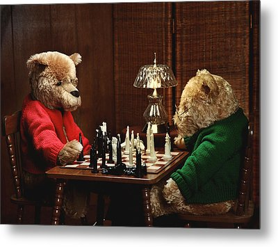 The Chess Game Metal Print by Judi Quelland