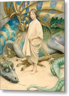 The Child In The World Metal Print by Thomas Cooper Gotch