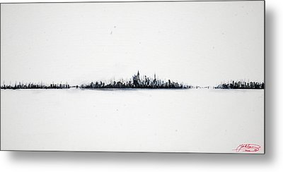 The City New York Metal Print