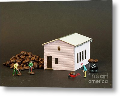 The Coffee Miners Metal Print by Steve Purnell