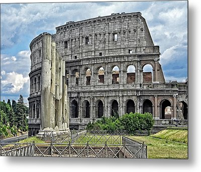 The Colosseum Metal Print by Nigel Fletcher-Jones