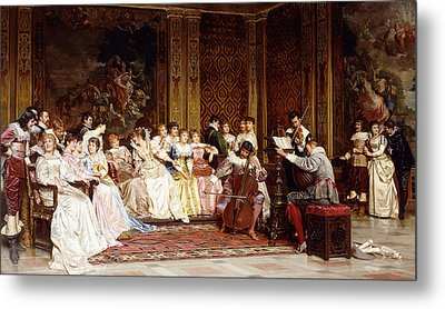 The Concert Metal Print by Joseph Frederic Charles Soulacroix