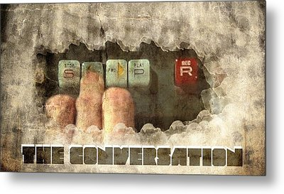 The Conversation Metal Print by Andrea Barbieri