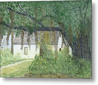 The Cottage-st. Simons Is. Ga Metal Print by Diane Frick