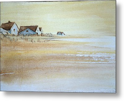 the cottages on BH Island Metal Print by Amy Bernays