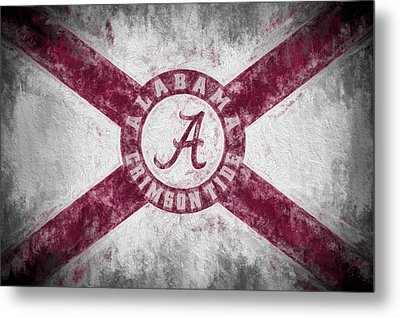 The Crimson Tide State Flag Metal Print