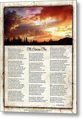 The Crimson Tree Poem Metal Print