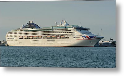 Metal Print featuring the photograph The Cruise Ship Oceana by Bradford Martin