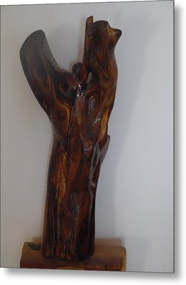 Metal Print featuring the sculpture The Cry Of Angels by Esther Newman-Cohen