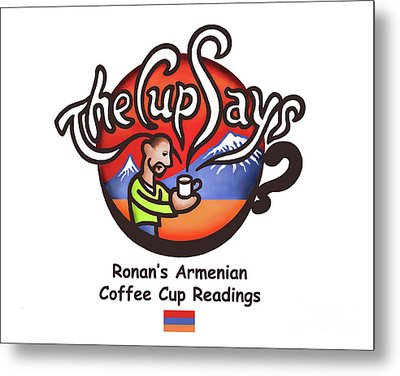 The Cup Says Logo Metal Print