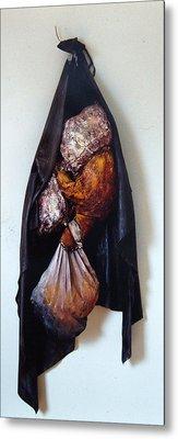 The Curtain Metal Print by Nancy Mueller