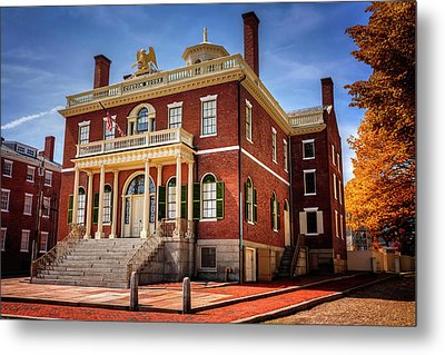 Metal Print featuring the photograph The Custom House Salem Massachusetts  by Carol Japp