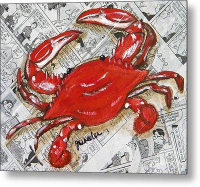 The Daily Crab Metal Print