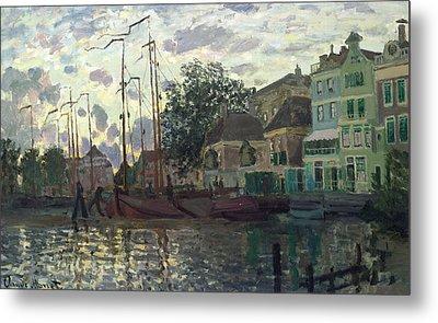 The Dam At Zaandam Metal Print by Claude Monet