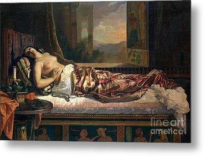 The Death Of Cleopatra Metal Print by German von Bohn