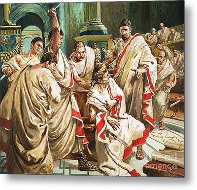 The Death Of Julius Caesar  Metal Print by C L Doughty