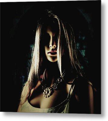 The Devil's Eyeless Bride Sees No Evil Metal Print by Cindy Nunn