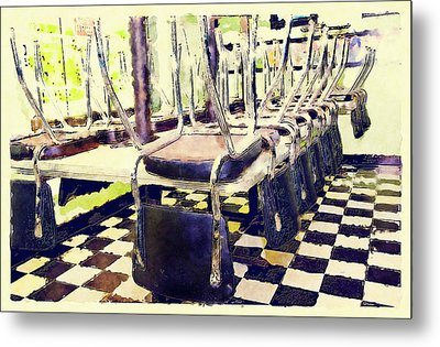 The Diner Is Closed Metal Print