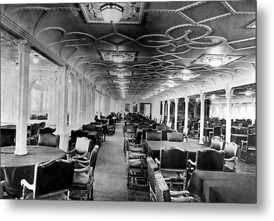 The Dining Room Of The Rms Titanic Metal Print by Everett