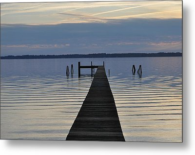 The Dock Metal Print by Tiffney Heaning