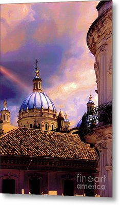The Domes Of Immaculate Conception, Cuenca, Ecuador Metal Print by Al Bourassa