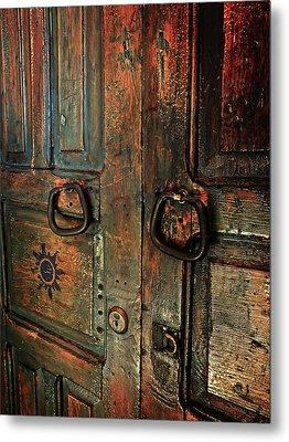 The Door Of Many Colors Metal Print