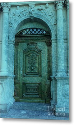 The Door To The Secret Metal Print by Susanne Van Hulst