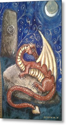 The Dragon Stone Metal Print