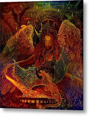 Metal Print featuring the painting The Dragons Spell by Steve Roberts