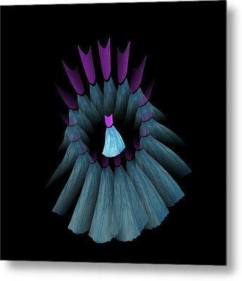 The Dream Circle Of Wise Women - Turquoise And Purple Metal Print by Jacqueline Migell