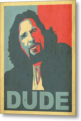 The Dude Obama Poster Metal Print by Christian Broadbent