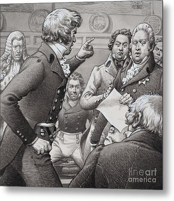 The Duke Of Cumberland, Shown Clashing In Public With His Brothers Metal Print