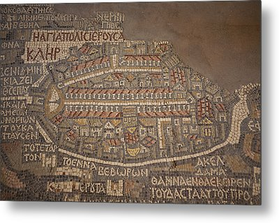 The Earliest Known Map Of The City Metal Print by Taylor S. Kennedy