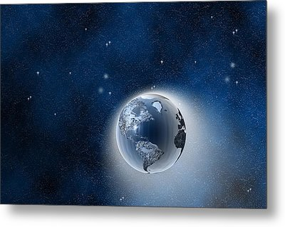 The Earth In Space Metal Print