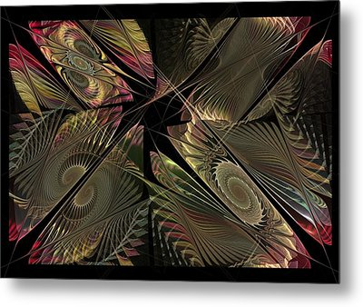 Metal Print featuring the digital art The Elementals - Calling The Corners by NirvanaBlues