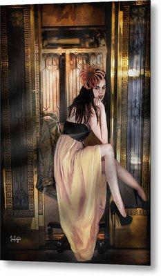 The Elevator Girl Metal Print