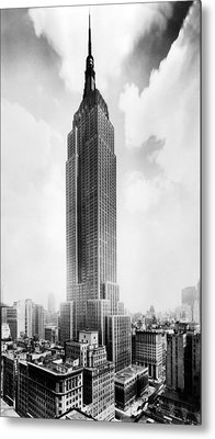 The Empire State Building, New York Metal Print by Everett
