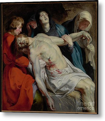 The Entombment By Peter Paul Rubens Metal Print