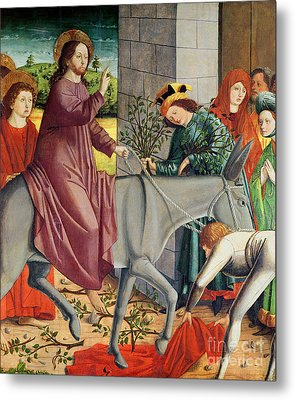 The Entry Of Christ Into Jerusalem, From The Altarpiece Of St. Stephen Metal Print by Michael Pacher