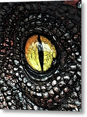 The Evil Eye By Raphael Terra Metal Print