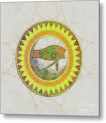 The Eye Of Horus, Pop Art By Mb Metal Print