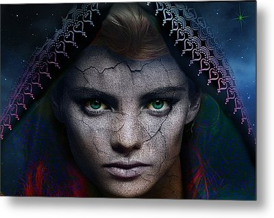 Metal Print featuring the digital art The Eye Of The Soul by Shadowlea Is