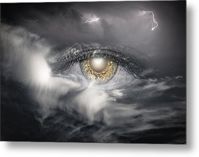 The Eye Of The Storm See's All Metal Print by My Minds  Photographer