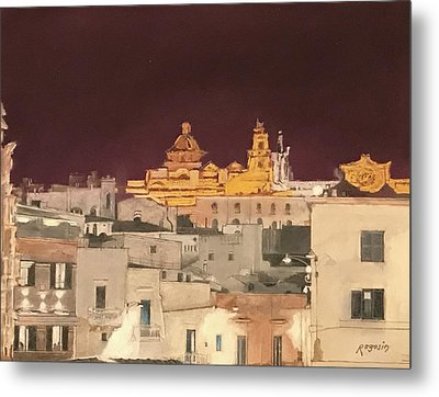 The Face Of Ostuni, Puglia Italy Metal Print