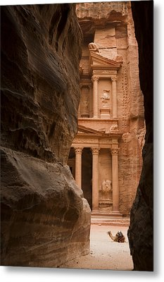 The Famous Treasury With A Camel Metal Print by Taylor S. Kennedy