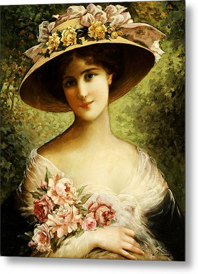 The Fancy Bonnet Metal Print by Emile Vernon